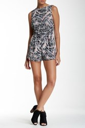 Necessary Objects Printed V Back Romper Multi
