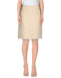 Max Mara Studio Skirts Knee Length Skirts Women Beige