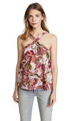 Cooper And Ella Floral Halter Top Dusty Pink Floral Print