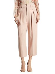 Red Valentino High Waist Cropped Wide Leg Pants Nude