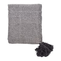 Bloomingville Tassel Throw 170X130cm Grey