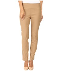 Lisette L Montreal Solid Magical Lycra Ankle Pants Camel Women's Casual Pants Tan