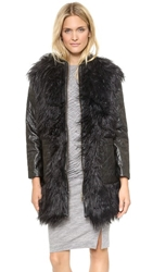 Shakuhachi Yeiti Imitation Fur Coat Black