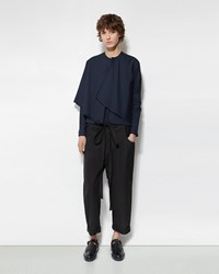 Phoebe English Cotton Crop Trousers Black