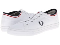 Fred Perry Kendrick Tipped Cuff Canvas White Navy Men's Lace Up Casual Shoes