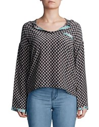 Day Birger Et Mikkelsen Printed Long Sleeve Top Blue Night