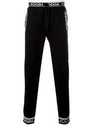 Dolce And Gabbana Hastag Detail Track Pants Black