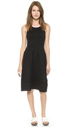 Jonathan Simkhai Bubble Fit Flare Dress Black