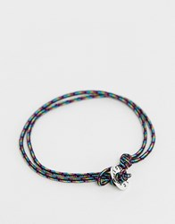Icon Brand Woven Anklet Multi