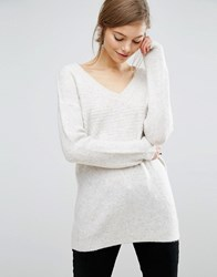 Asos Lounge Sweater With V Neck Gray
