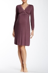 Belabumbum Eva Maternity Nursing Dress Purple