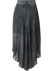 Lost And Found Ria Dunn Sheer Asymmetric Skirt Grey