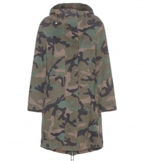 Valentino Camouflage Printed Cotton Parka Green