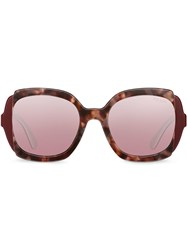 Prada Eyewear Eyewear Collection Sunglasses Red