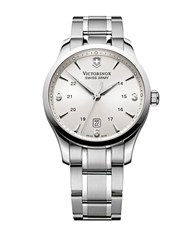 Victorinox Mens Alliance Stainless Steel Watch Silver R