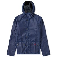 Barbour Pass Wax Jacket Blue
