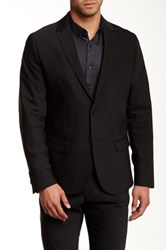 Kenneth Cole Slim Fit Two Button Blazer Black