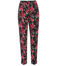 Dolce And Gabbana Floral Printed Cropped Trousers Multicoloured