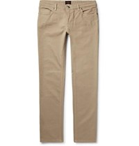 Tod's Stretch Cotton Twill Trousers Beige