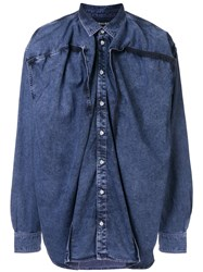 Y Project Draped Front Shirt Blue