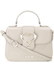 Love Moschino Buckle Cross Body Bag Grey