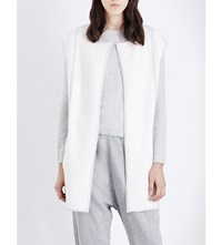 Duffy Sleeveless Knitted Cardigan Ivory Marble