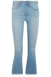 Madewell Cali Cropped High Rise Bootcut Jeans Light Denim