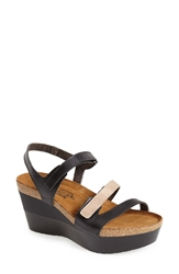 Naot Footwear 'Canaan' Wedge Sandal Women Black Beige