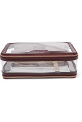 Anya Hindmarch Inflight Leather Trimmed Pvc Cosmetics Case Burgundy