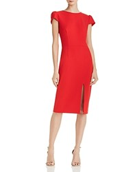 Betsey Johnson Scuba Crepe Dress Red