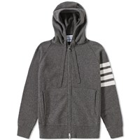 Thom Browne Arm Stripe Cashmere Hoody Grey