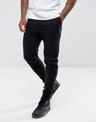 Another Influence Quilted Slim Fit Jog Trouser Black