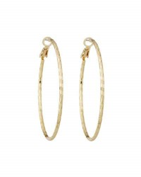 Lydell Nyc Textured Hoop Earrings Gold