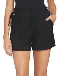 1.State Solid Flat Front Shorts Rich Black
