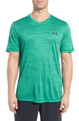 Under Armour Men's 'Ua Tech' Loose Fit Short Sleeve V Neck T Shirt Geode Green