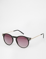 Monki Leora Round Sunglasses Black