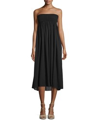 A.L.C. Randy Embroidered Strapless Sundress Black Women's