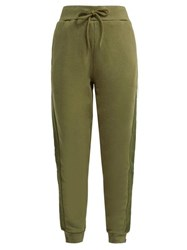 The Upside Twill Striped Cotton Track Pants Khaki