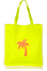 Koku Fay Appliqued Neon Canvas Tote Yellow