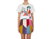 Marc Jacobs Women's Graphic Print Jersey T Shirt White