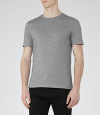 Reiss Darton Mens Textured T Shirt In Black