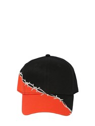 Heron Preston Barbwire Embroidered Cotton Baseball Hat Array 0X575c6d8