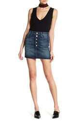 J Brand Button Front Frayed Hem Mini Skirt Multi