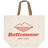 Battenwear Large Canvas Tote Bag White