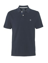 Fat Face Men's Organic Pique Polo Shirt Blue