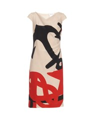 Max Mara Kiota Dress White Multi
