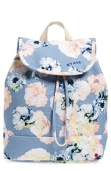State Bags Park Slope Floral Hattie Canvas Backpack Blue Floral Gray
