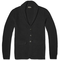Barbour X Land Rover Clearwell Knitted Blazer Dark Charcoal