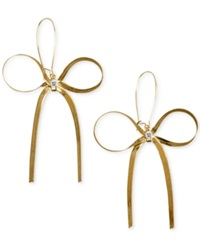 Betsey Johnson Gold Tone Bow Earrings