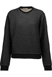 Alexander Wang T By Cotton Blend French Terry Sweatshirt Black